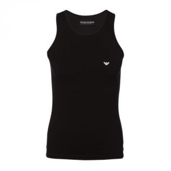 Armani Stretch Cotton Tank-top (Sort)