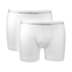 Armani Stretch Cotton Boxershorts - 2-Pak (Hvid)