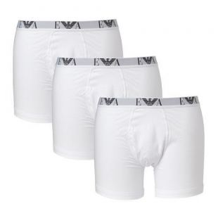 Emporio Armani 3 Pack Genuine Cotton - Boxer Brief (Hvid)