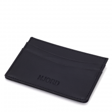 Njord Card Holder Slim (Læder - Sort)