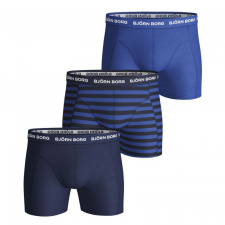 Björn Borg 3-Pack Stripe Essential Boxers (Blå/Navy/Striber)