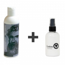 Beardsley Shampoo - Shampoo til Skæg (236 ml) +  Beardsley Skæglotion (118 ml)