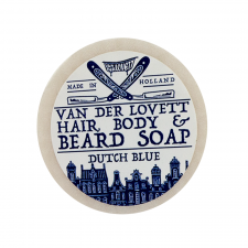 Van Der Lovett Hair, Body & Beard Shampoo Soap Bar Dutch Blue (60 g) (made4men)