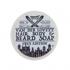 Van Der Lovett Hair, Body & Beard Shampoo Soap Bar Grey edition (60 g) (made4men)