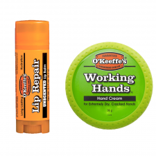 O'Keeffe's Working Hands Håndcreme (96 g) + O'Keeffe's Unscented Lip Repair Balm (4,2 g) (made4men)
