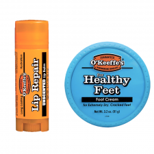 O'Keeffe's Healthy Feet Foot Cream (91 g) + O'Keeffe's Unscented Lip Repair Balm (4,2 g) (made4men)