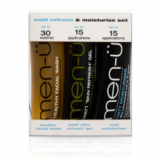 men-ü Matt Refresh & Moisturise Set (3 x 15 ml) (made4men)