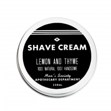 Men's Society Shave Cream - Lemon and Thyme (250 ml) (made4men)
