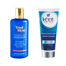 Tend Skin Solution (236 ml) + Veet For Men Gel Cream (200 ml)